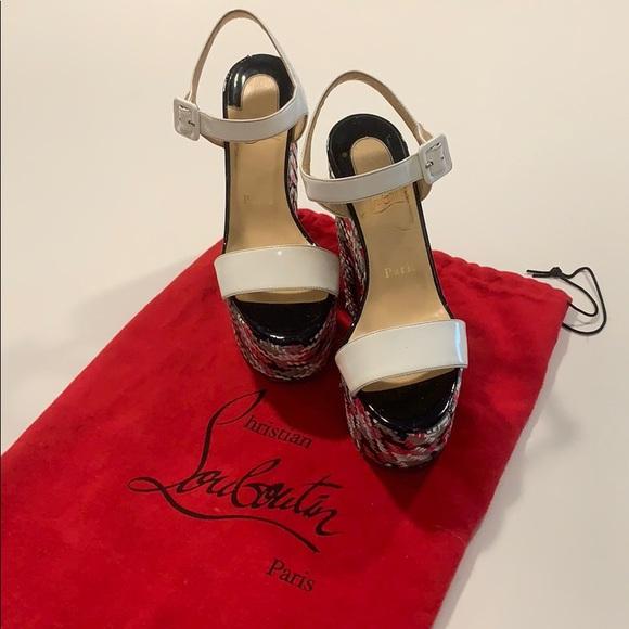 100% high quality quality huge selection of Christian Louboutin Shoes | Platform Wedge Skyhigh 160mm | Poshmark
